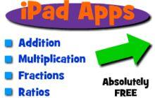 4 olika gratis appar, Thinking Blocks, på engelska om olika moment i matematiken. Bra!