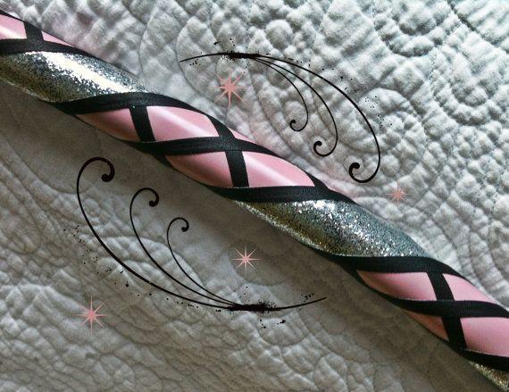 LOVE THIS! Pink Trekker Dance & Exercise Hula Hoop COLLAPSIBLE or STANDARD light pink silver black