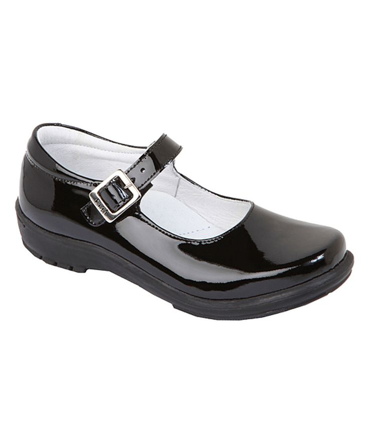 This Dogi Kids Footwear Black Patent Leather Buckle Leather Mary Jane by Dogi Kids Footwear is perfect! #zulilyfinds