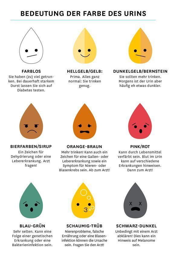 Urinfarbe: Was sie uns verrät