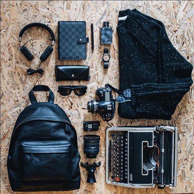 Niyo All Black Leather | Siyah deri sırt çantası yeniden stokta, sipariş