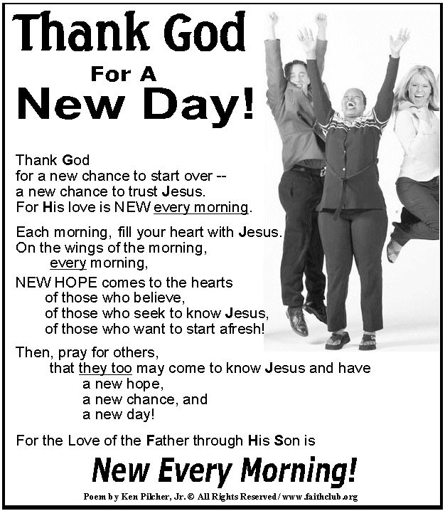 Thank God For A New Day