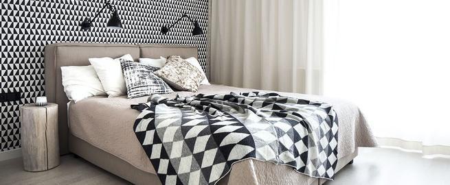 Tkaniny do sypialni: 23 pomysły na wystrój