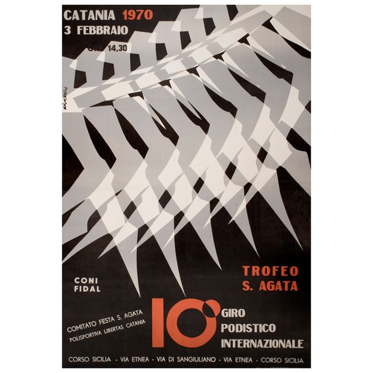 Original Italian 10k Race Poster by Signorelli, 1970 1