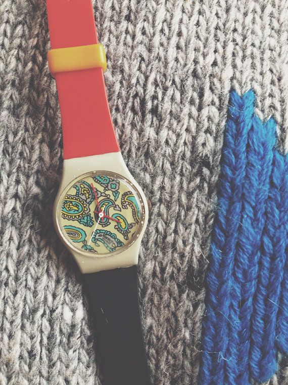 Vintage 1985 Swatch Watch - Sheherazade