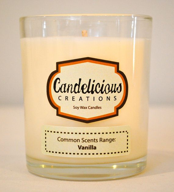 Soy Wax Vanilla Scented Candle Jar  Common by CandeliciousCreation, $15.00