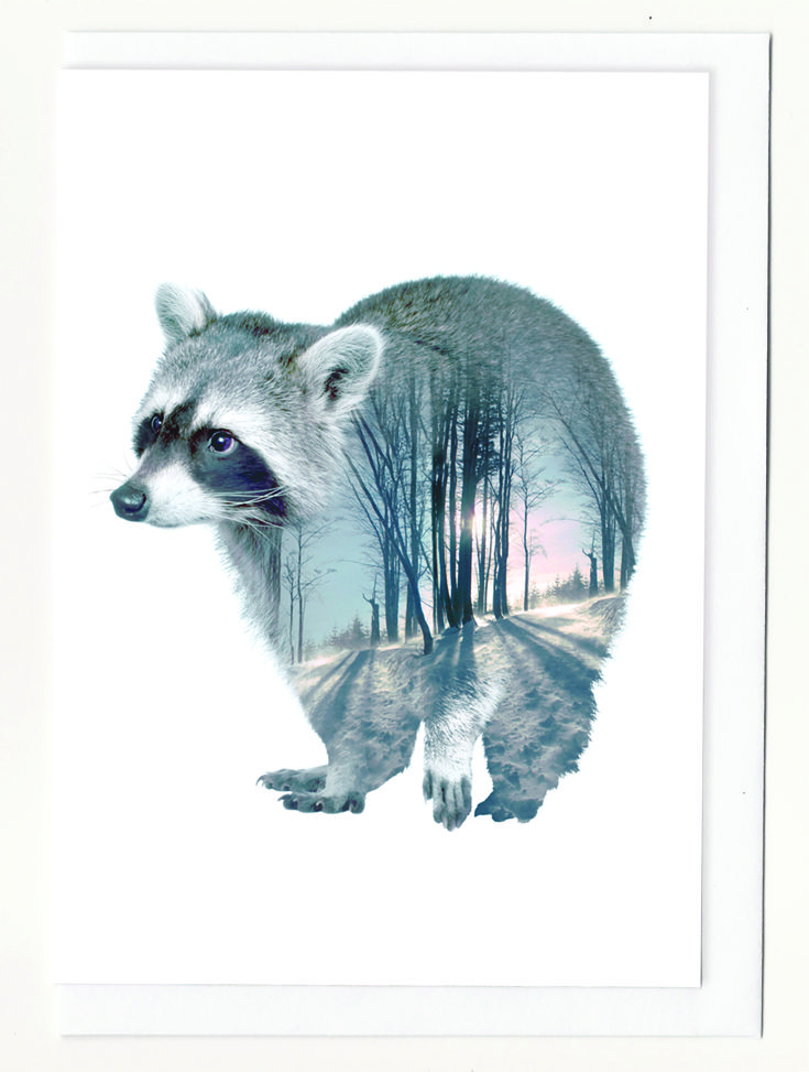 Paper Empire Australia. Faunascape greeting card. Available in Saturday and Sunday Showbag.