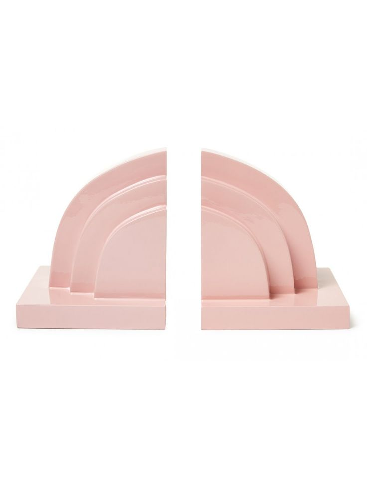 Auden Bookends, Pastel Pink