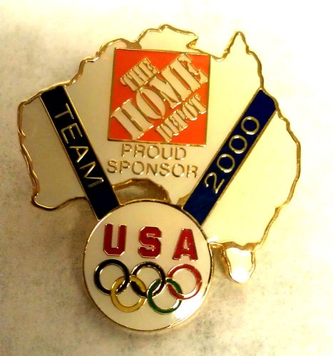 Home Depot Sydney USA Team Australia Olympic Pin back | eBay