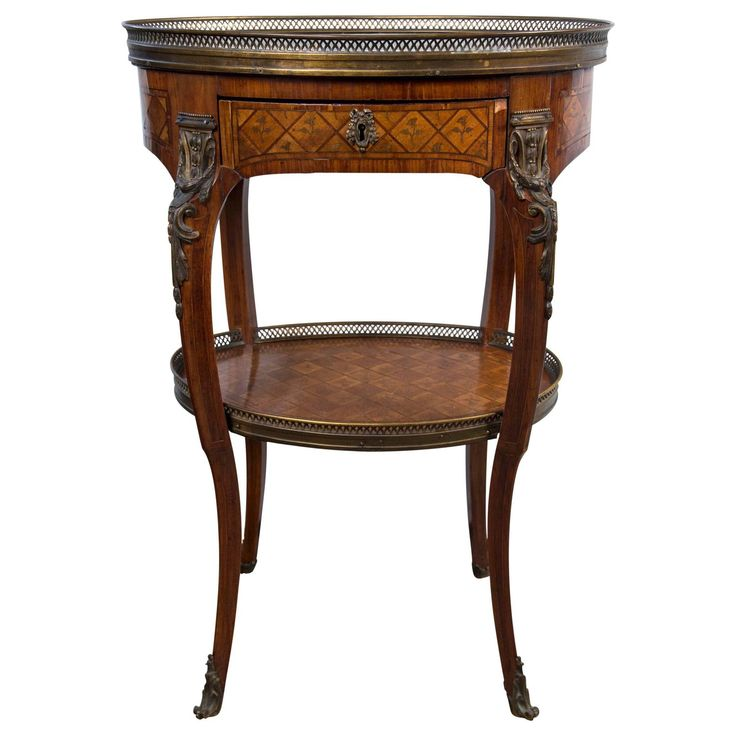 Transitional   18th  French Oval  Writing Table/End Table