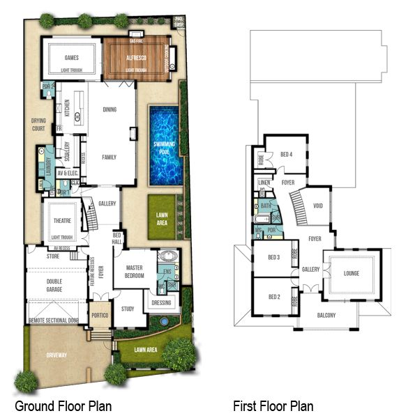 Breakwater two storey floor plans by Boyd Design Perth. Let's design your next home.