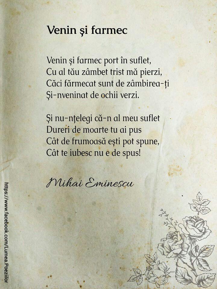 Poezii de Mihai Eminescu, poezii dragoste, poezii iubire