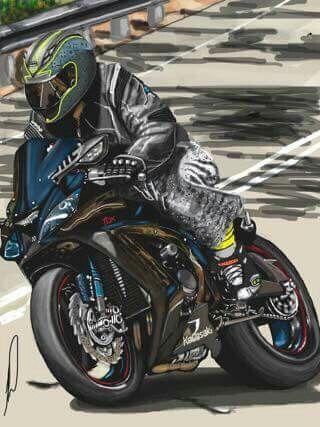 Son in law on Kawasaki 1000 super sports