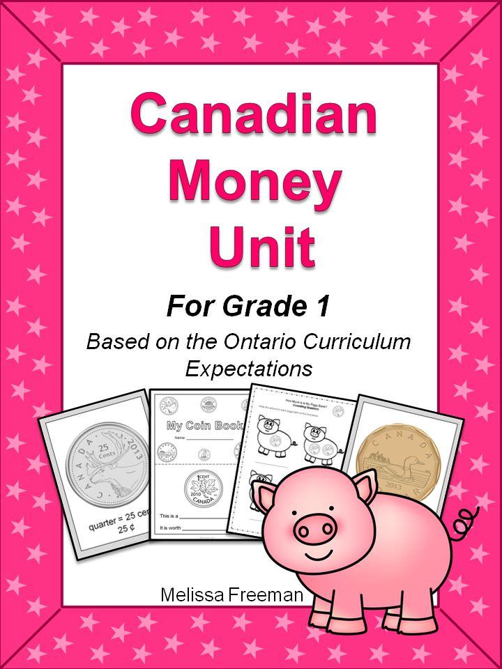 canadian money unit for grade 1 ontario curriculum expectations. Black Bedroom Furniture Sets. Home Design Ideas