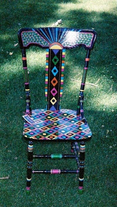 Painted chair by janie
