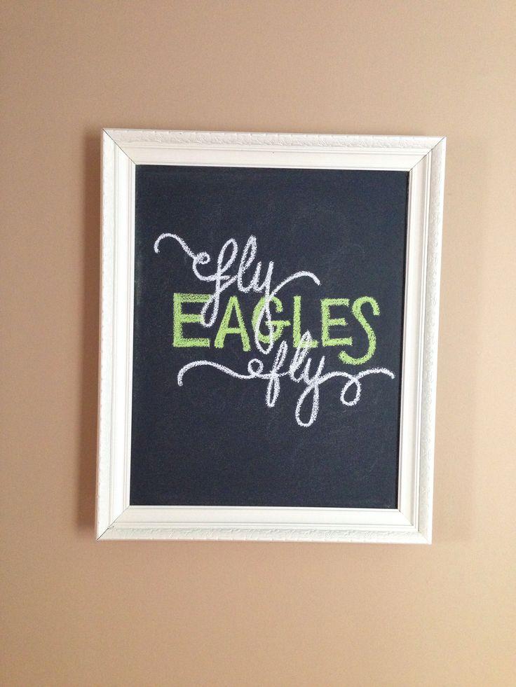 Philadelphia Eagles game day chalkboard