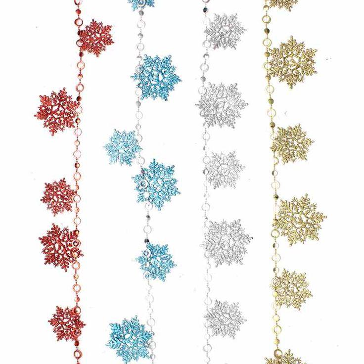 Cheap 2 m lungo fiocco di neve decorazioni di natale colorate xmas tree camera da letto partito ornamenti regali forniture, Compro Qualità Decorazioni e forniture di natale direttamente da fornitori della Cina:      Peso:  110g    Colore:            Rosso, blu, oro, argento (scegli il tuo preferito)      Formato:  Grande fiocco d