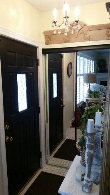 Black interior front door.