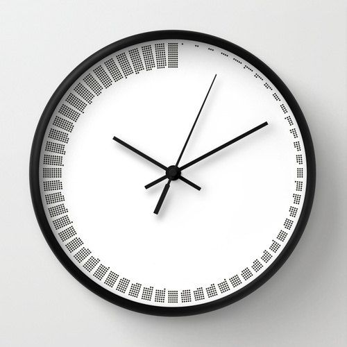 Wall clock available with natural wood frame, white or black. Possibility to choose black or white hands to match the frame clock and the art print design choice. The outer diameter is 10 inches, with clear plexiglass on front and a back hook for hanging easily. The wall clock sits is 1.75 inches and requires 1 AA battery (not included). The mechanism is a silent/ not ticking one with sweep quartz movement.  You may be interested in…