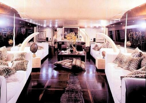 The Interior Of Roberto Cavalli S Purple Yacht Please