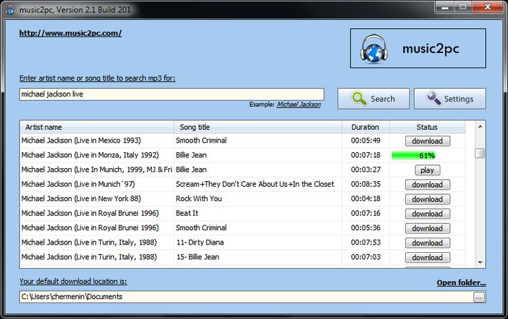 Music2Pc Search, Find & Download MP3 Music files