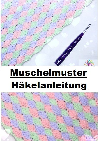 Häkeln lernen: Muschelmuster