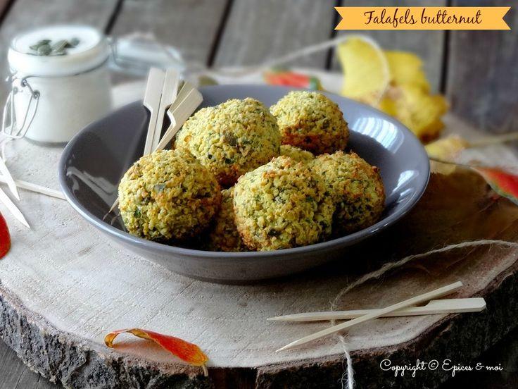 Falafels au butternut et dip au yaourt et clémentines #vegan #sansgluten { Epices & moi }