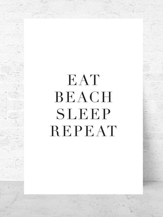 Beach  / Art print Travel Collection  |  Starting from $37  |  #poster #art #design #interior #inspirational #gallery #wall @quote @getmercerandgrand