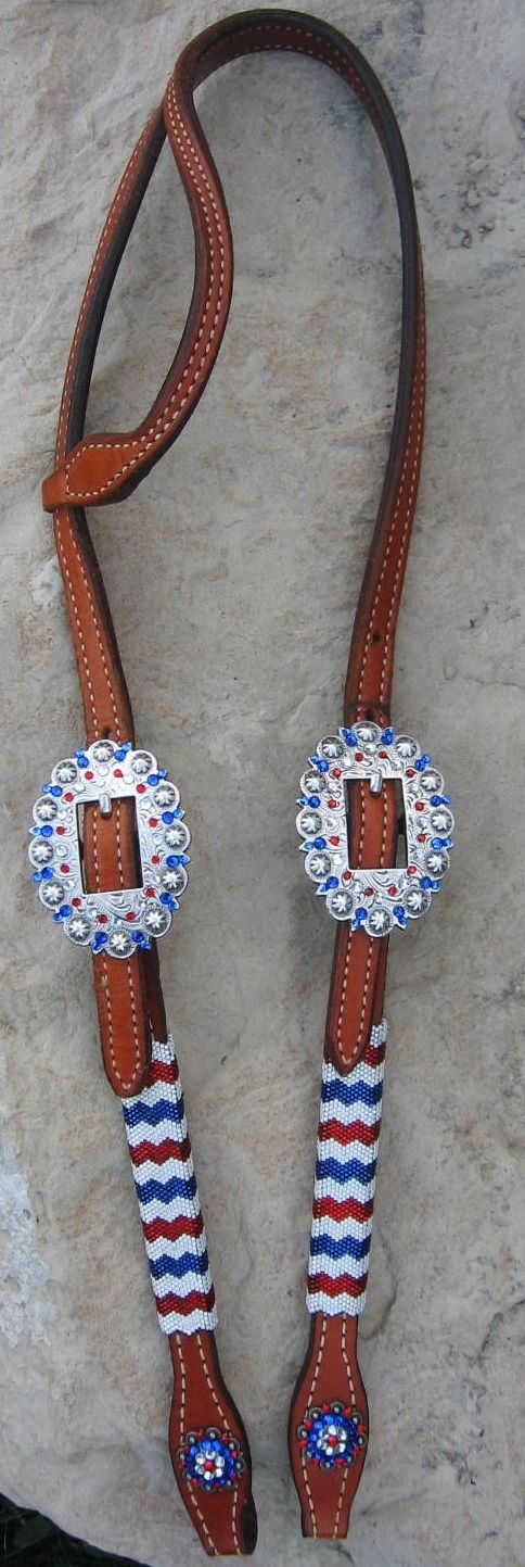 For Sale One of a Kind Original Pampered Cowgirl teamed up with Wendy Stephen's Custom beading to create this one ear beauty! There is no other one like it. The med oil headstall is a slightly used Billy Cook. All the bead work is one bead at a time. The beads are Miyuki Delica's, glass beads from Japan. Lots of hours have been spent on this exquisite bead work. If interested in purchasing please private message us, or email us at pamperedcowgirl2@yahoo.com