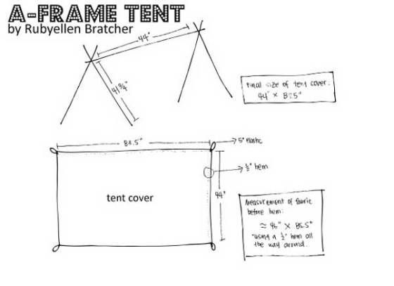 how to build a canvas tent frame