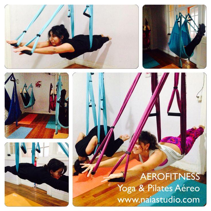 Flotando, volando, desafiando la gravedad... Excelente trabajo de mis haditas voladoras de AeroFitness:: Yoga & Pilates Aéreo Ñuñoa.