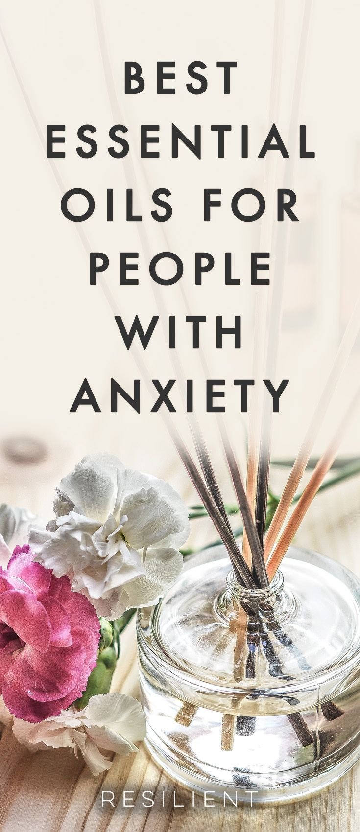 Have you ever tried using essential oils in your life? They can be a very soothing and uplifting natural addition to your life to enhance your mood and promote relaxation. Here are the 8 best essential oils for depression and anxiety. #anxiety #anxious #essentialoils #essentialoilsforanxiety