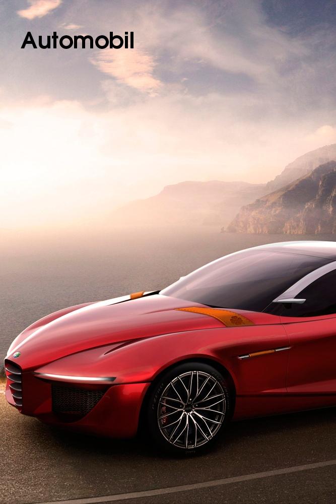 """Alfa Romeo • Konzeptfahrzeug Alfa Romeo Gloria – Turiner Designstudenten entwerfen Sportlimousine    Eines der spektakulärsten Konzeptfahrzeuge, das auf dem Autosalon in Genf (7. bis 17. März 2013) Weltpremiere feiert, stammt von Studenten. Der Studiengang """"Transportation Design"""" am European Design Institute (IED) in Turin hat zusammen mit dem Centro Stile Alfa Romeo eine Sportlimousine der Zukunft entworfen. Die Studie Alfa Romeo...    Bild anzeigen: http://www.imagesportal.com/home27.php"""