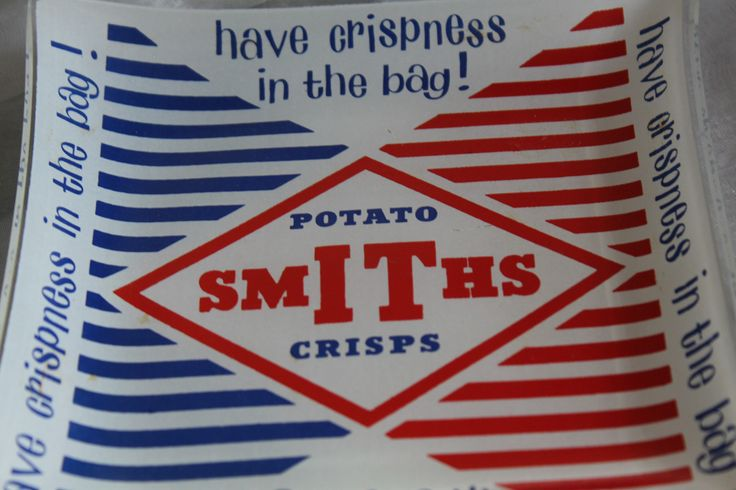 Smiths Crisps. Advertising Dish Collectable 1960s . Red, White and Blue by AtticBazaar on Etsy
