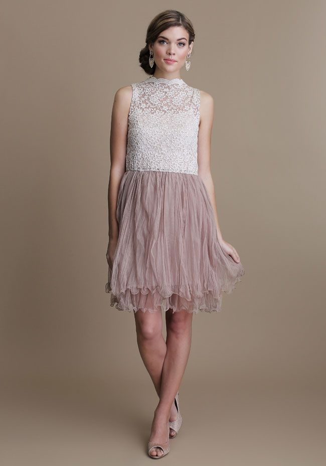 Textured lace bodice full skirt dress