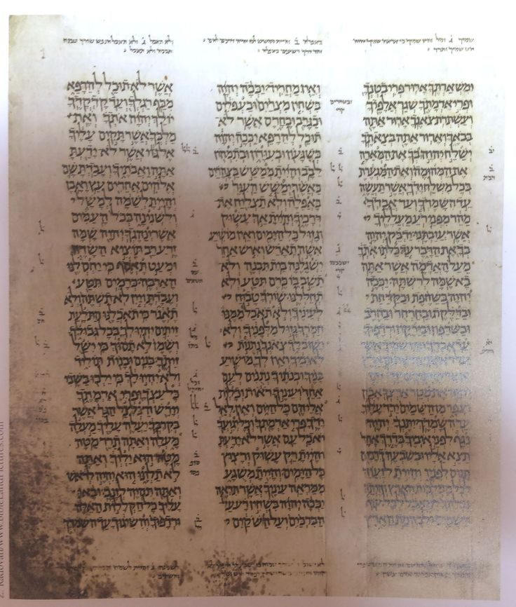 Aleppo Codex is one of the earliest major copies of the Hebrew Bible. It dates to around AD 900 and is the product of the Masoretes