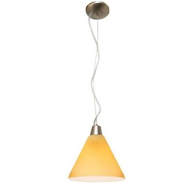 Visit The Home Depot To Buy Illumine Pendant Brushed Steel Finish Amber Glass