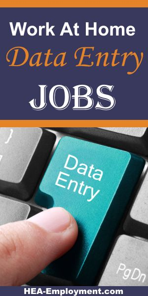 Data entry telecommuting work from home jobs