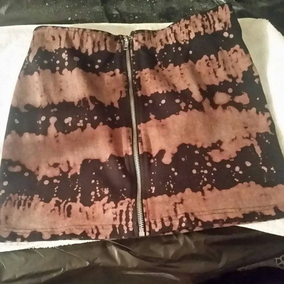 Check out this item in my Etsy shop https://www.etsy.com/ca/listing/493638836/bleached-mini-skirt
