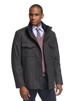 Collezione Men's Double Pocket Zip Front Jacket