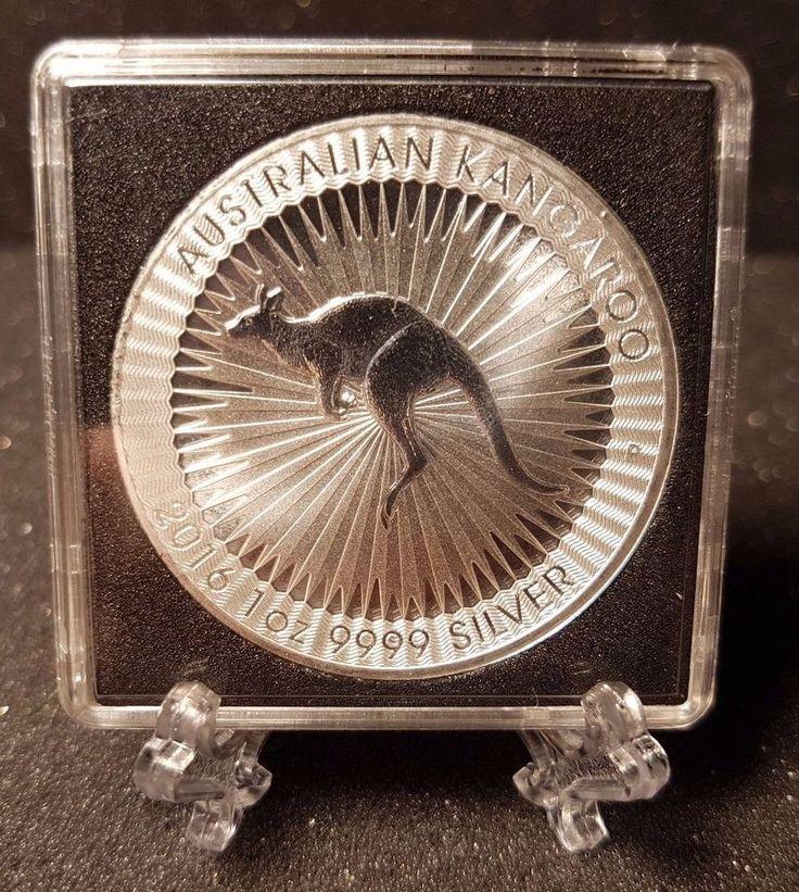 2016 Australia, 1 oz .9999 Fine Silver Kangaroo, Quadrum  Square 2X2 Capsule | eBay