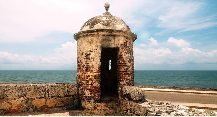 Garita en la muralla, Cartagena - Colombia