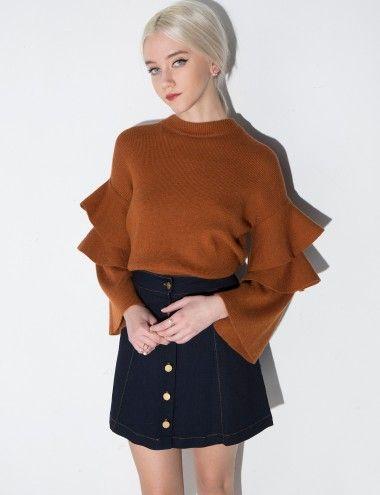 ruffle sleeves #fashion #pixiemarket