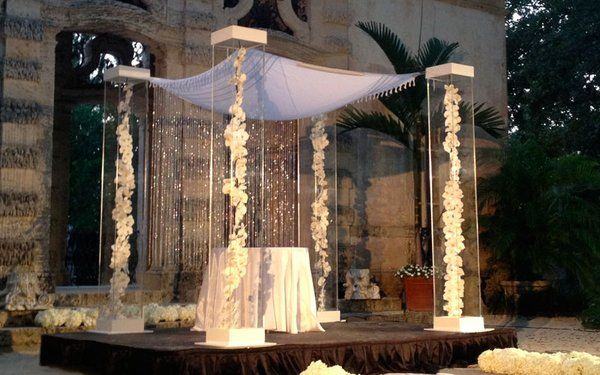 Chuppah With Crystal Garland Modern Glam Pinterest