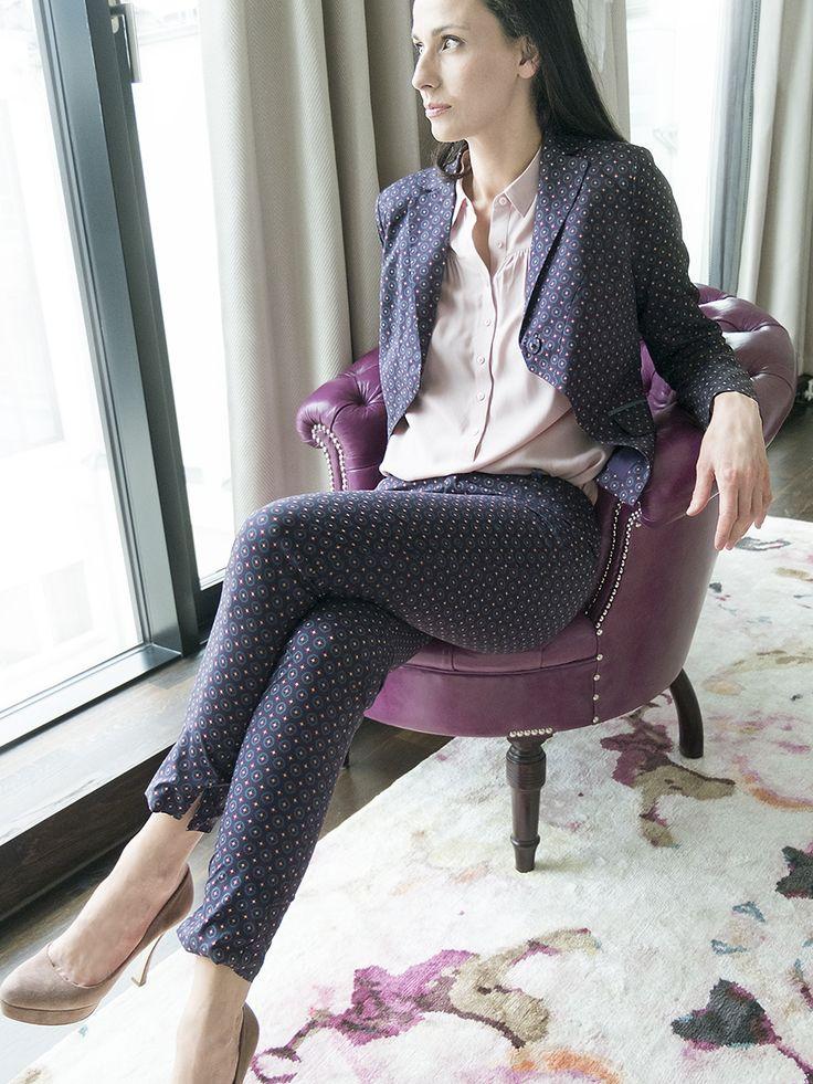 #fashion #summer #jackett #blazer #pattern #muster #bevonboch #lila