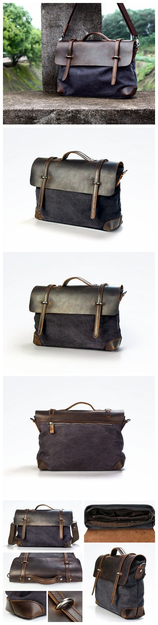 Canvas Messenger Bag / Shoulder Bag / Laptop Bag / Tote Bag