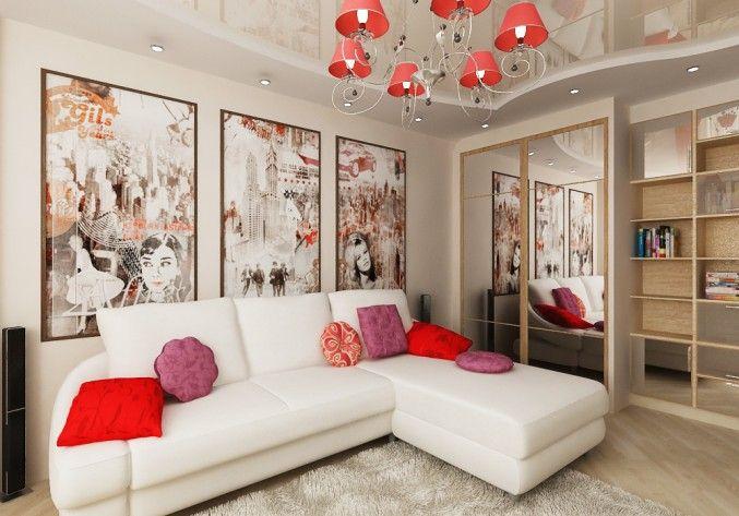 Дизайн зала 18 кв.м.