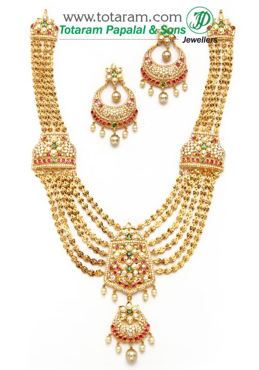 22K Gold Long Necklace amp Earrings Set With South Sea