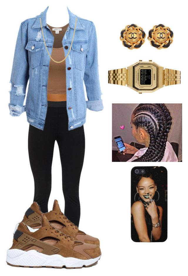 """""""what's my name ? """" by jayleewarren ❤ liked on Polyvore featuring Peace of Cloth, NIKE, Chanel and Casio"""
