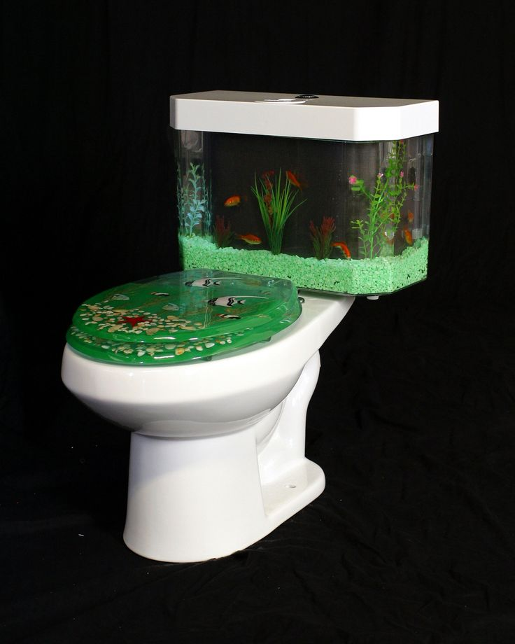 Unique Toilet Aquarium Design ~ http://www.lookmyhomes.com/pick-one-of-unique-aquariums-design-ideas-for-your-fish/